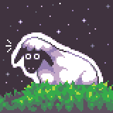 sheepglowgrassspace by OCEANSCENTED