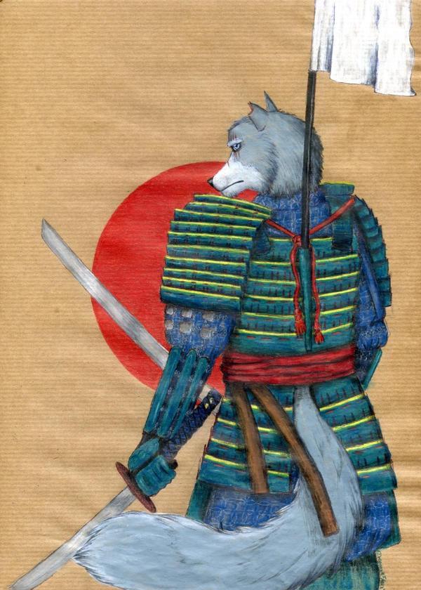 Samurai Wolf by DragonysArt