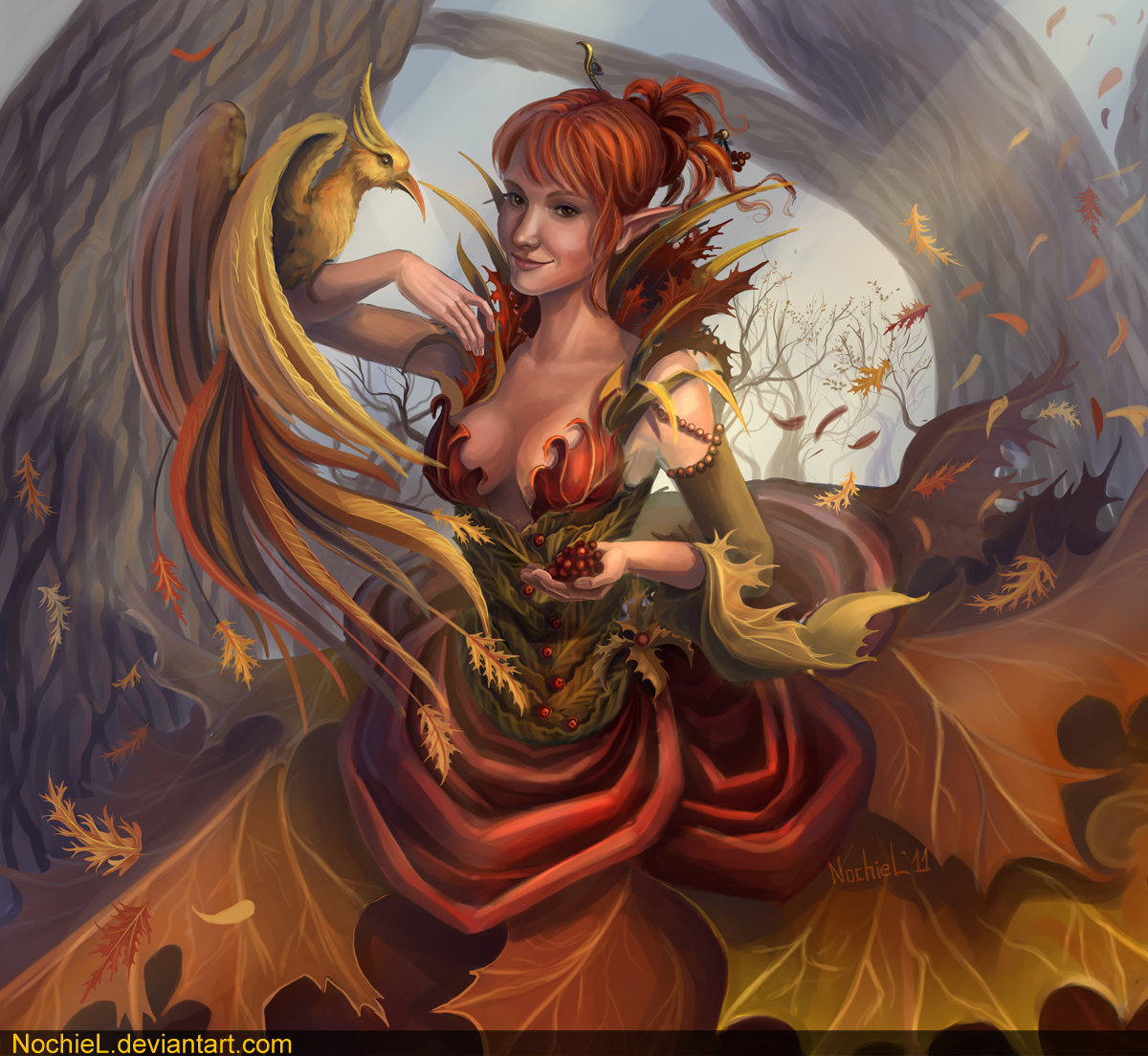 Autumn Fairy by Nochiel