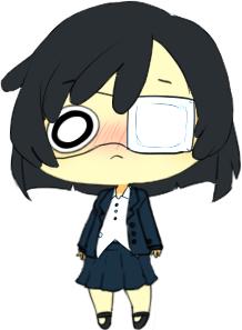 Izzy Fujimoto /w eye-patch by TunaPlatinum