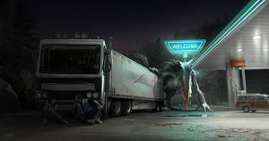 California Monster - Gas Station Attack!