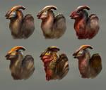 Parasaurolophus head and facial integument