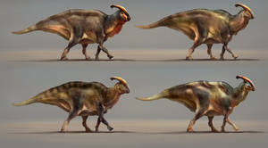 Parasaurolophus body integument sheet