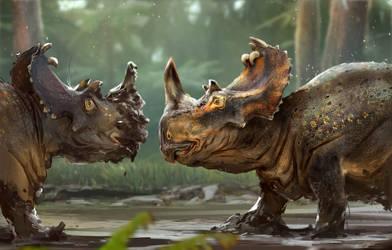 A Muddy Ceratopsian!