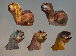 Carnotaurus facial designs