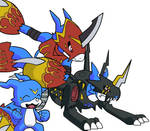 V-mon's Armor Evolutions