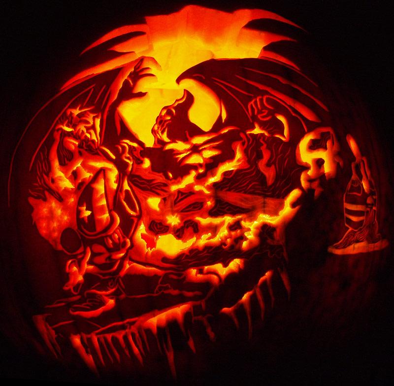Mickey Vs Chernabog Carving By Noeldickover On Deviantart
