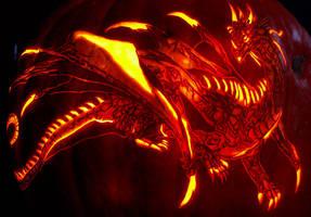 Dark Dsurion pumpkin carving by NoelDickover