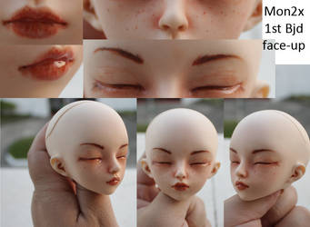 1st BJD faceup by mon2x