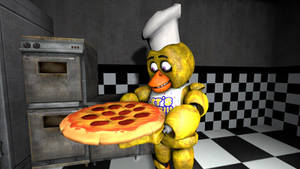 Chica making a Pizza