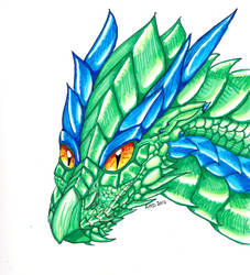 Copic Green Dragon by AnnaRDunster