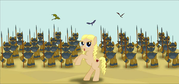 Game of Thrones / MLP : Daenerys' Unsullied Army by Mini-Pen