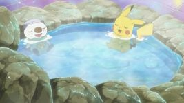 Oshawott and Pikachu in hot tub! by ryanthescooterguy