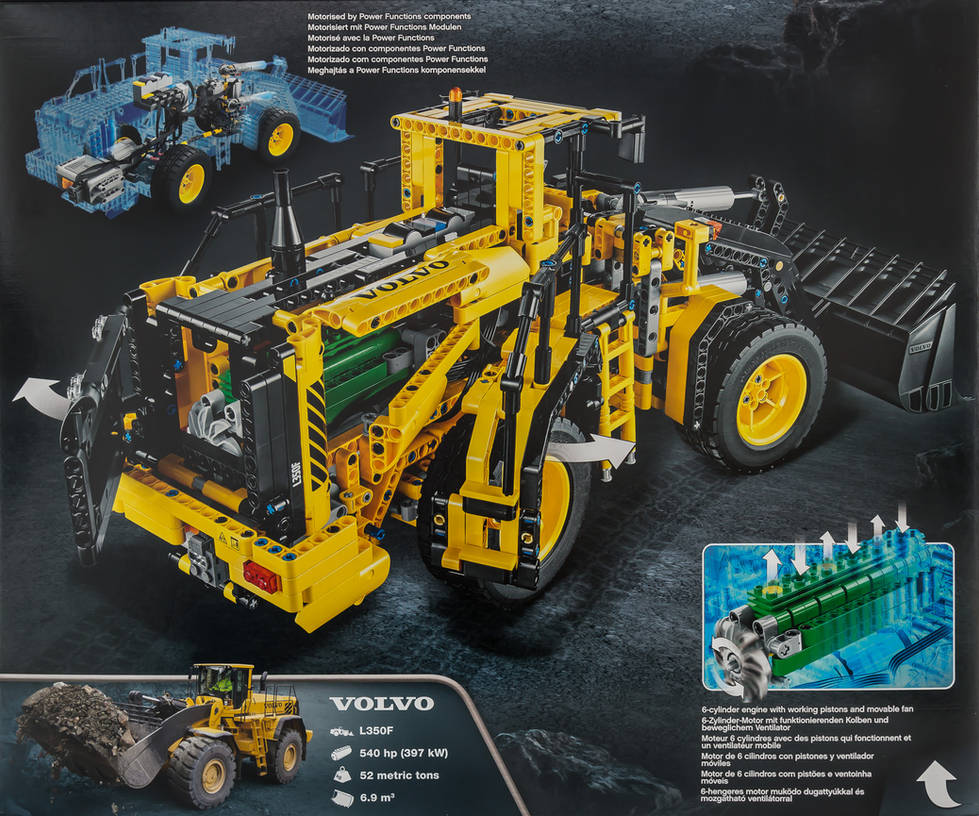 Goede LEGO Technic 42030 Volvo L350F Front End Loader by UW-21