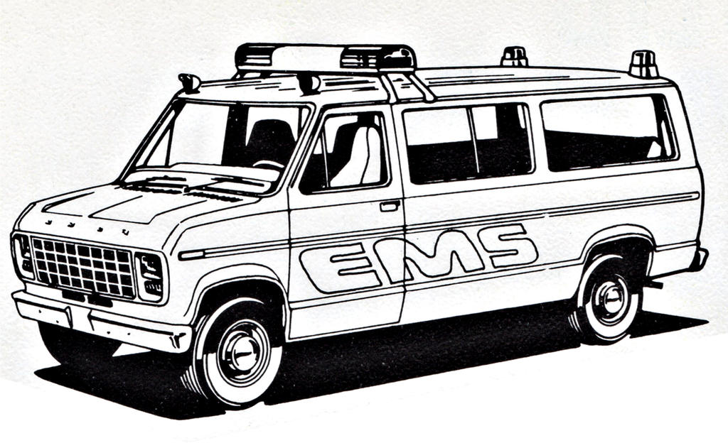 Ford EMS Police Van Coloring Sheet By Ryanthescooterguy On