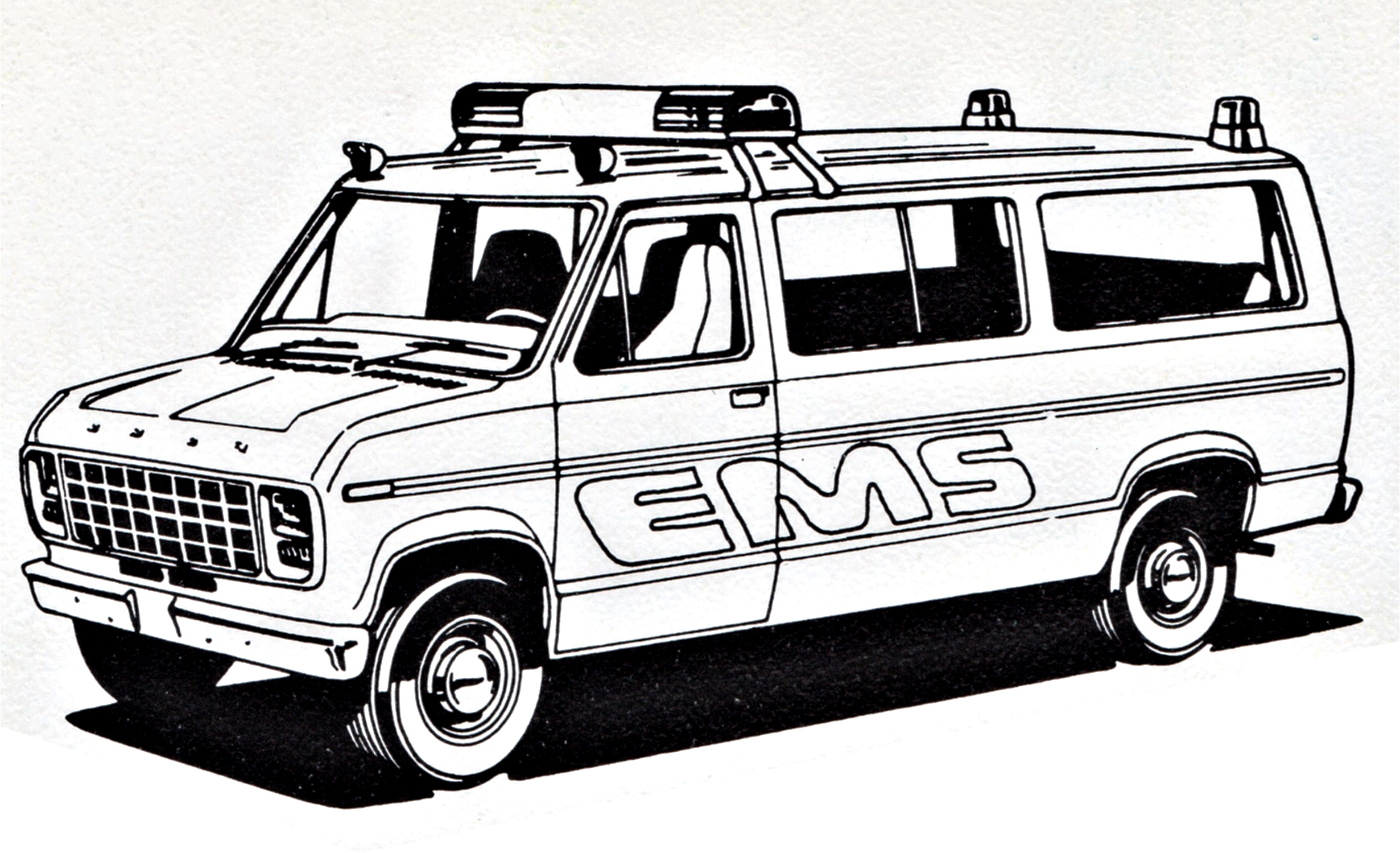 Ryanthescooterguy Ford EMS Police Van Coloring Sheet By
