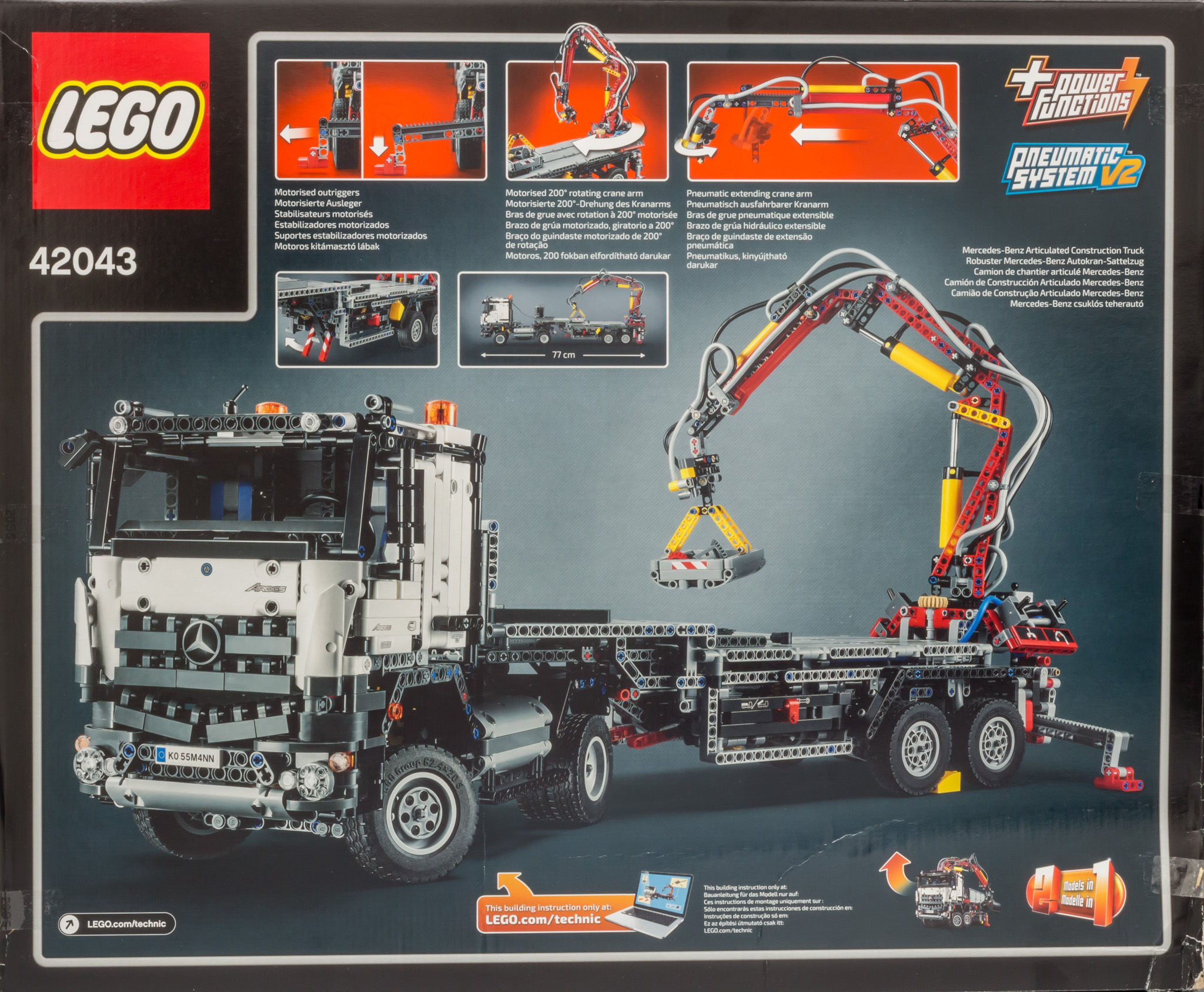 lego 42043 mercedes benz arocs by ryanthescooterguy on. Black Bedroom Furniture Sets. Home Design Ideas