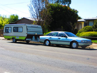 Ford Fairlane and Viscount Caravan by ryanthescooterguy