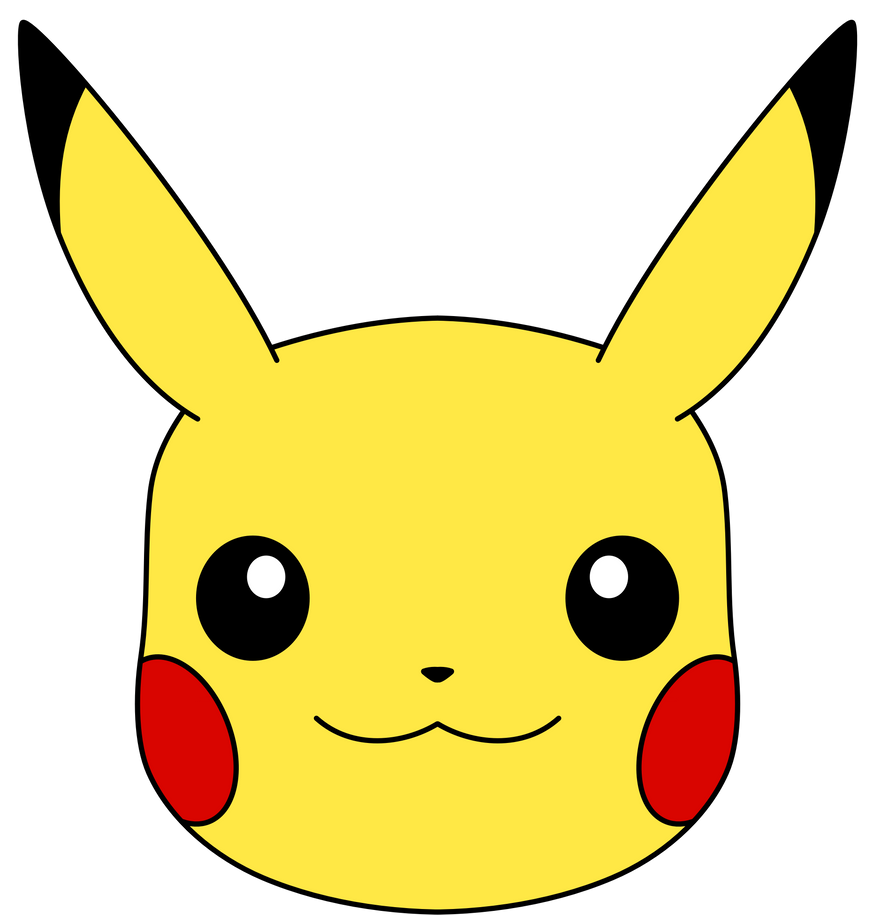 Pikachu's Face vector by ryanthescooterguy