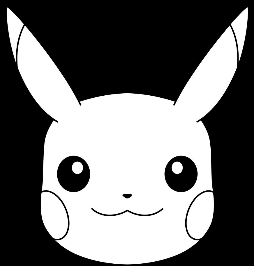 Pikachu's Face (Line Art) by ryanthescooterguy on DeviantArt