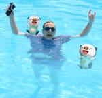Swimming like an Oshawott!