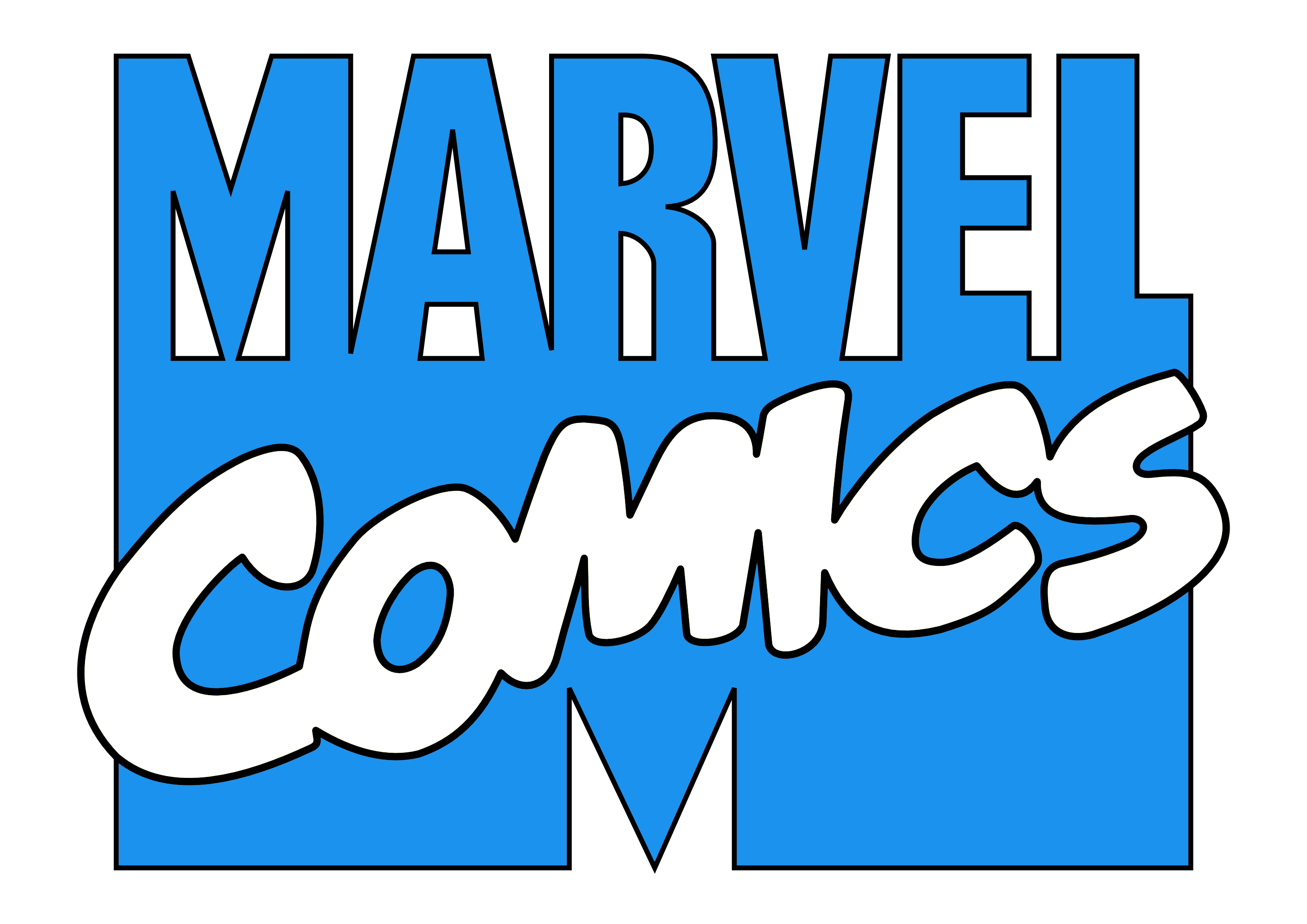 1980s 90s marvel comics logo blue white by ryanthescooterguy on deviantart