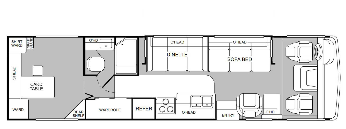 Floorplan Of 1999 Fleetwood Southwind Storm 32y By Ryanthescooterguy On Deviantart