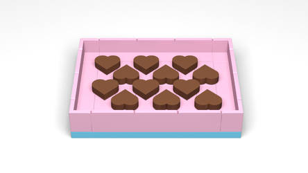 LEGO Stud.io - Box of Chocolate Hearts! by ryanthescooterguy