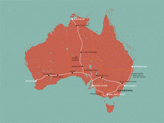Great Southern Rail Routes as of 2019 by ryanthescooterguy