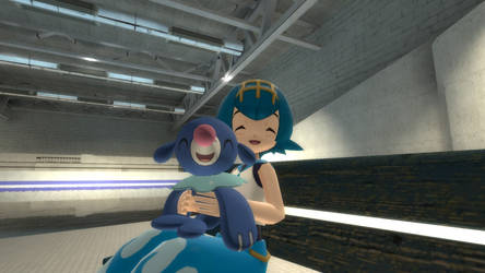 Lana and her Popplio in Gmod!