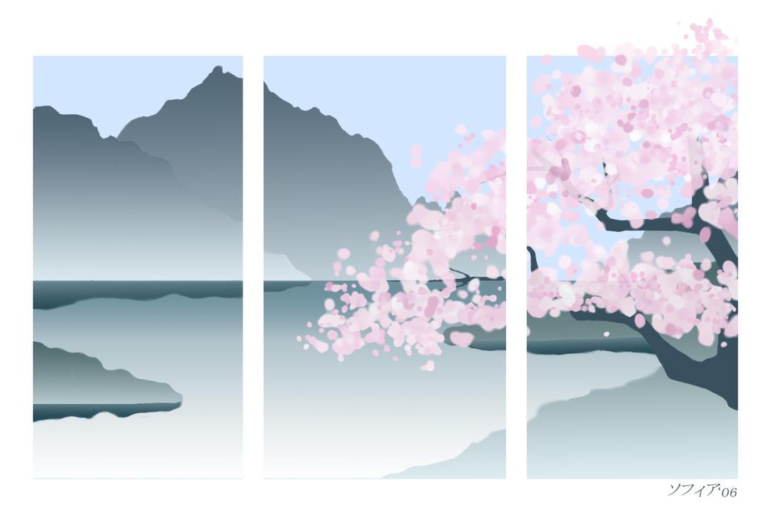 Sakura Tree Wallpaper by HarlequinsTears on DeviantArt