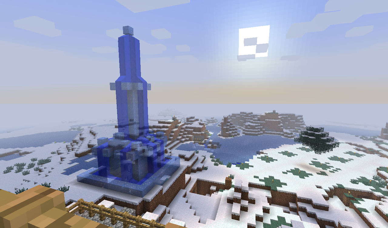 Minecraft Ice Tower By Wackywong On Deviantart Get/craft blue ice & everything you need to know! minecraft ice tower by wackywong on
