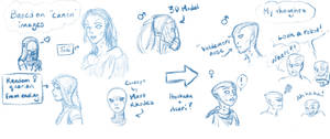 Quarian Face sketches