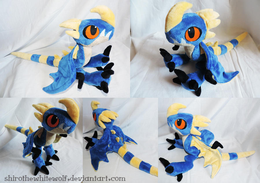 Deadly Nadder plushie by ShiroTheWhiteWolf on DeviantArt