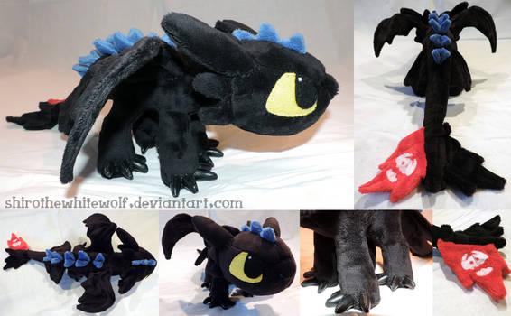 Chibi Toothless Alpha Dragon plushie [SOLD]