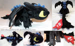 Chibi Toothless Alpha Dragon plushie [SOLD]