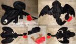Large Toothless plush prototype