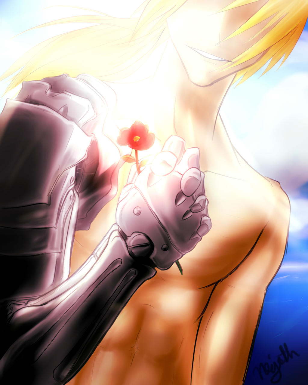 Edward Elric - A Flower with Hope by Nawaru