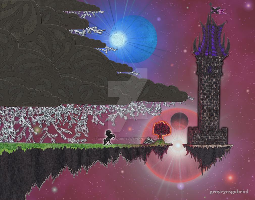 The Lonely Tower v2.0 by greyeyesgabriel