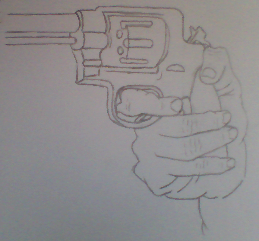 Hand Holding Rose Drawing Drawing Hands Holding a Gun