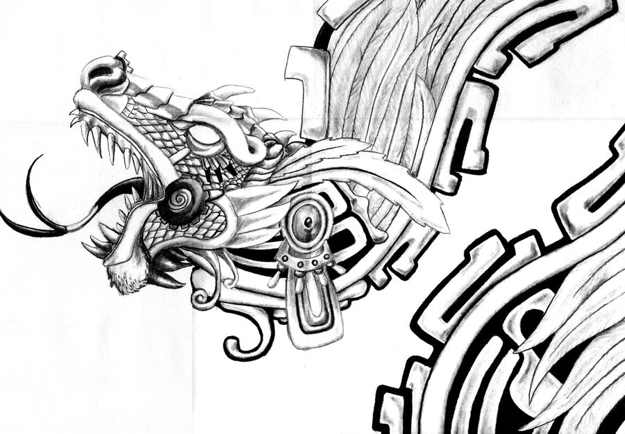 Aztec dragon by headbangerdragon on DeviantArt