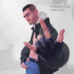 Men painting practice 28