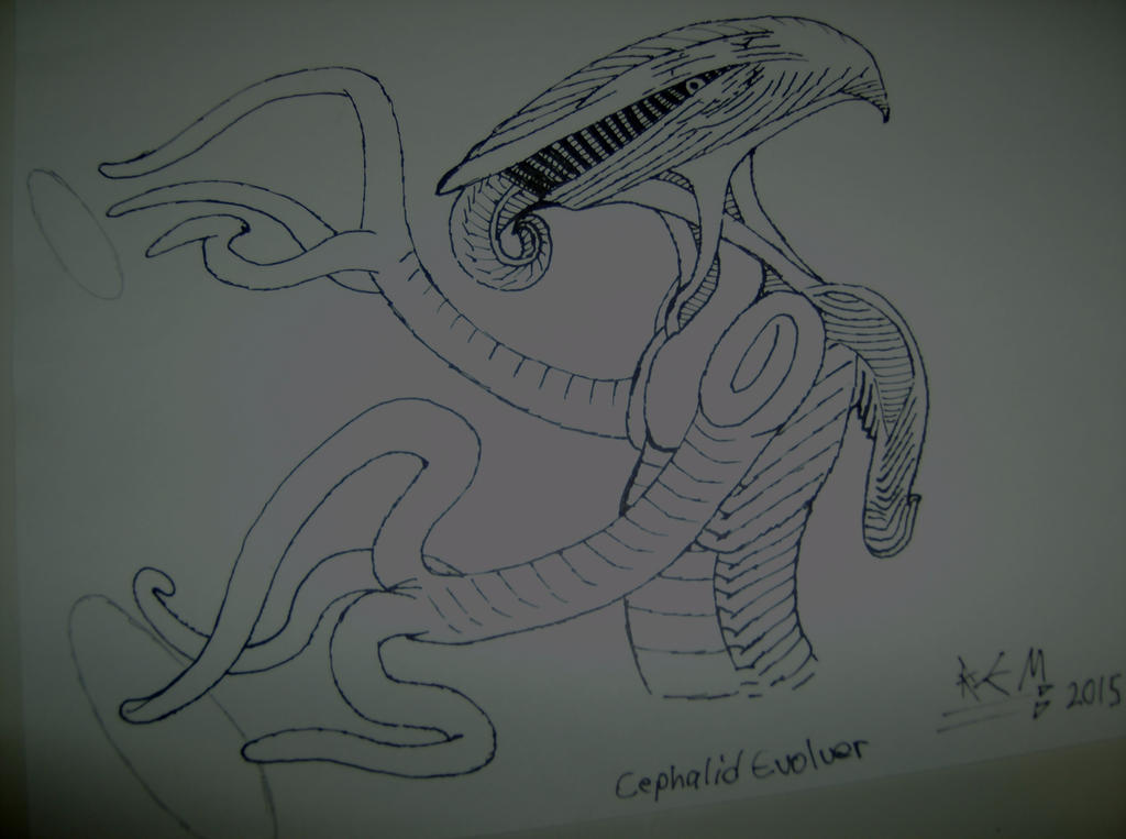 Cephalid Concept Unfinished by Negative-Pallor