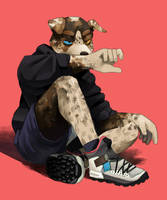 leopard dog boy by dmnckh