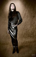 Pleather Hobble Skirt - Front by BlackRoomPhoto