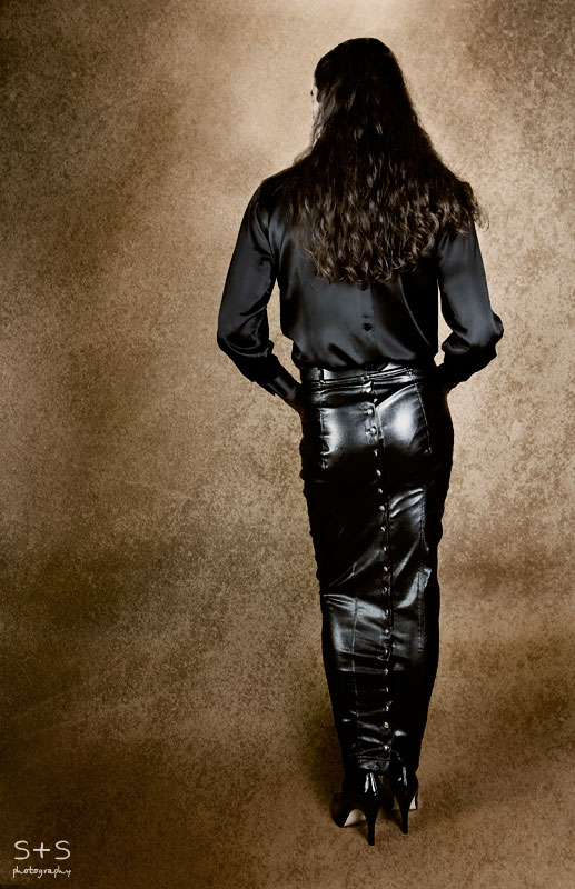 Pleather Hobble Skirt - Back by BlackRoomPhoto