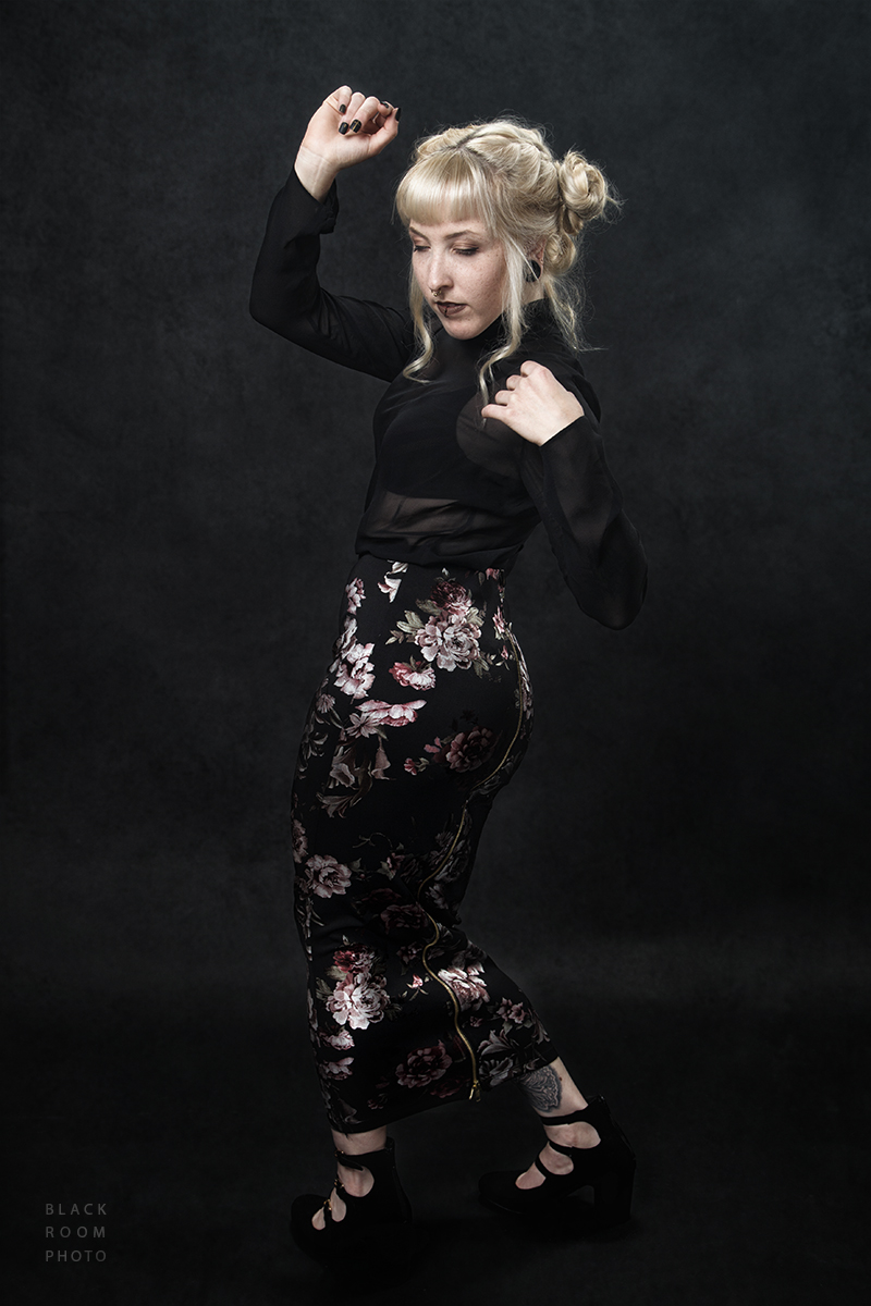 Floral Skirt by BlackRoomPhoto