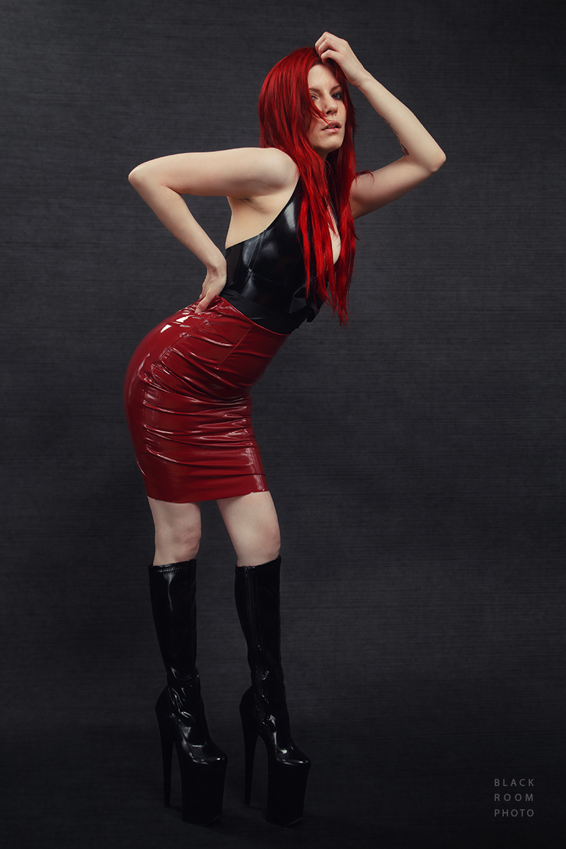 Harley Dark - Red Skirt by BlackRoomPhoto