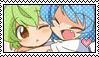 Cirno x Daiyousei - Stamp by Polka54