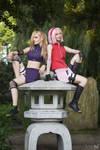 Sakura and Ino by StygianVI